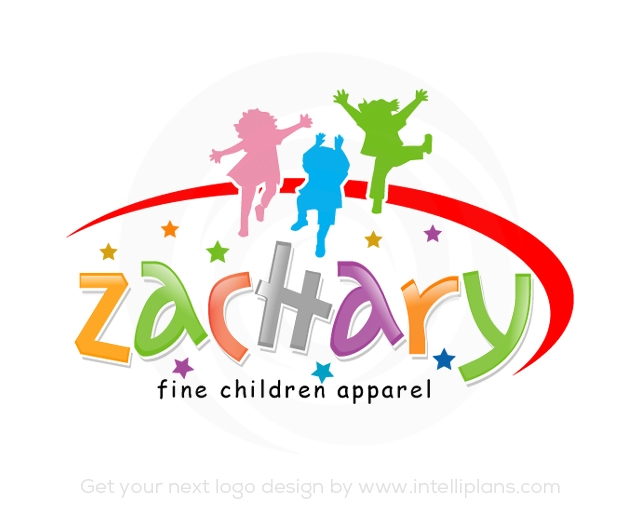 Flat Rate Children, Daycare Logos or Childcare Logos