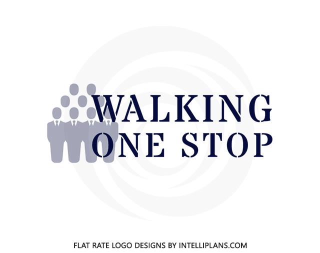 Flat Rate Logo Designs Firm - Walking One Stop Logo