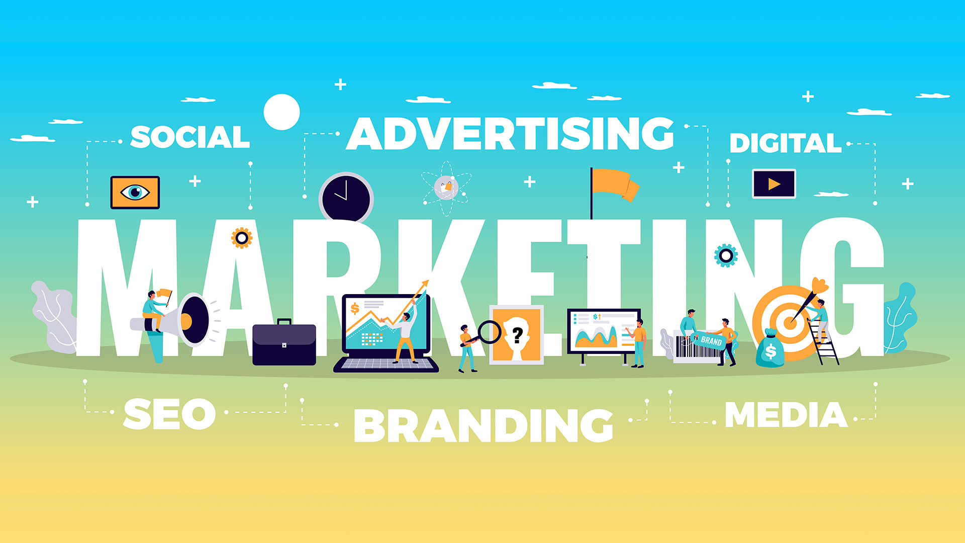 Once you have your marketing plan, INTELLIPLANS' advertising department can implement it, helping you promote your company or products on more than 200,000 outlets on TV, in print and online.
