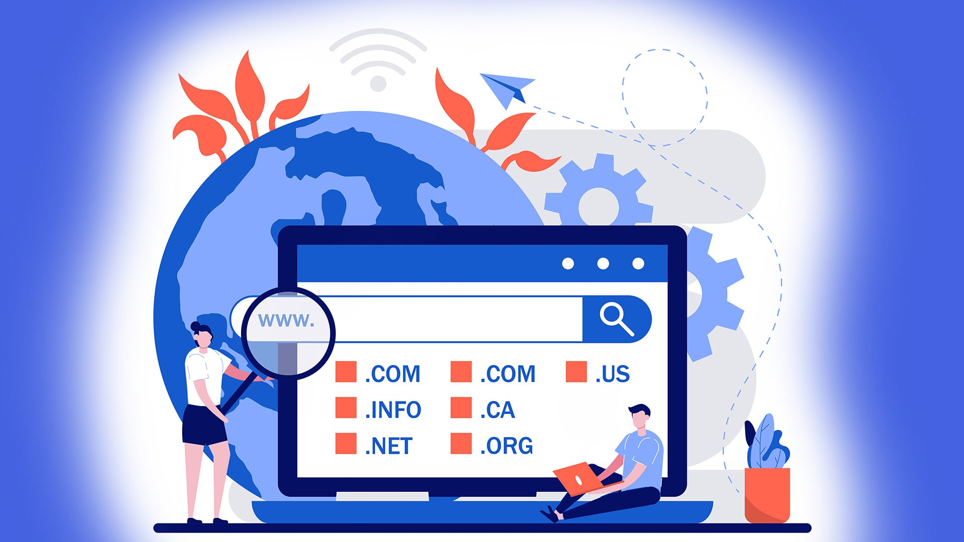 Cheap Domain Names - Direct any domain name you own to your website — anyone who types that domain name into their browser is taken directly to your website.