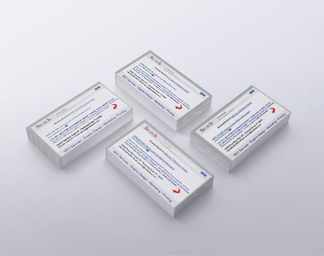SEO Business Cards Design